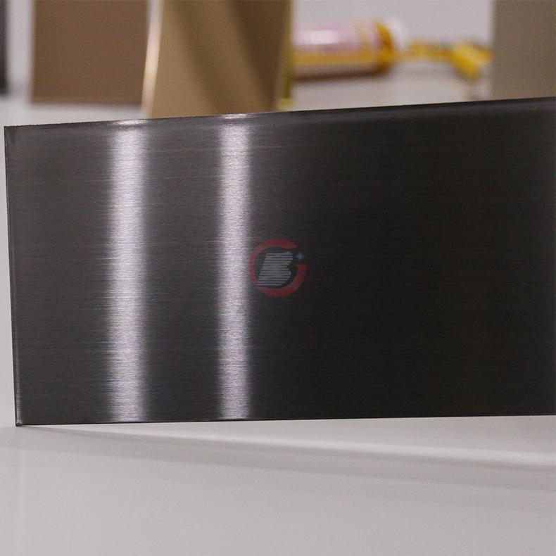 高比灰色发纹不锈钢板 专业彩色不锈钢表面处理 2