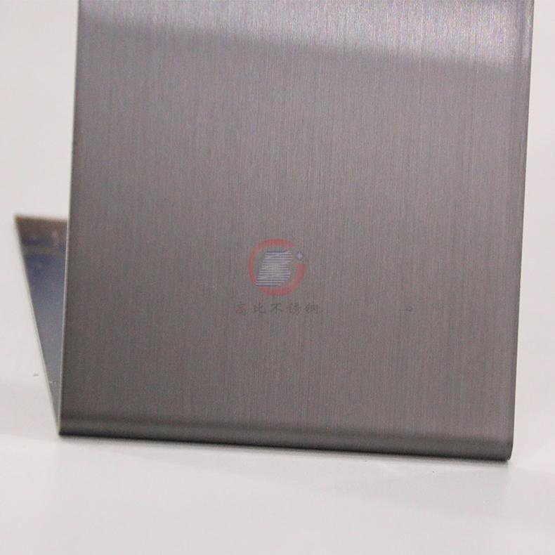 高比灰色发纹不锈钢板 专业彩色不锈钢表面处理 3