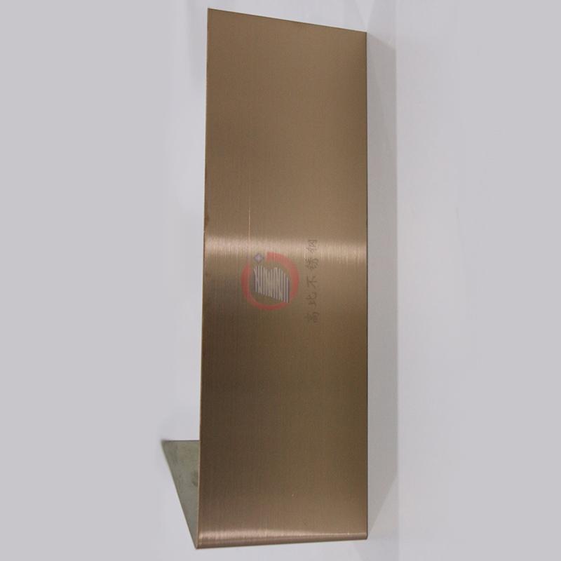 高比304不锈钢表面著色工艺 发纹真空镀玫瑰金价格 1