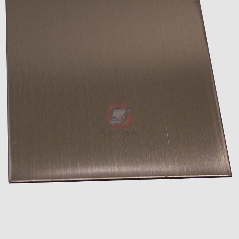 高比304不锈钢表面著色工艺 发纹真空镀玫瑰金价格 3