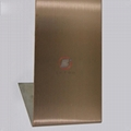 高比304不鏽鋼表面著色工藝 發紋真空鍍玫瑰金價格