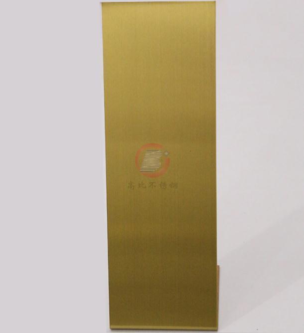 高比钛金发纹不锈钢总代销 酒店装璜金属制品材料 4