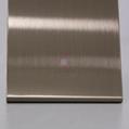 高比304彩色不锈钢著色加工 发纹不锈钢棕金 5