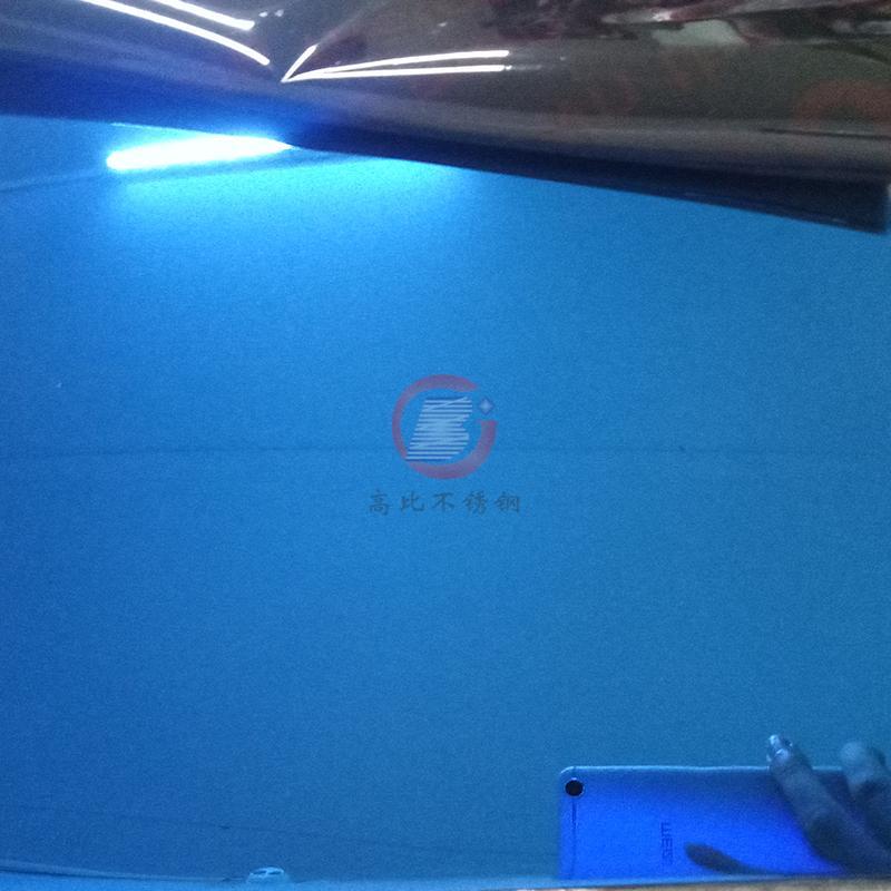 高比304镜面宝石蓝不锈钢板 5