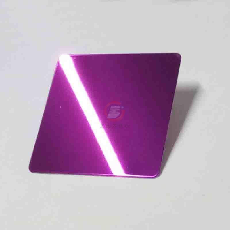 高比304镜面不锈钢紫红  1