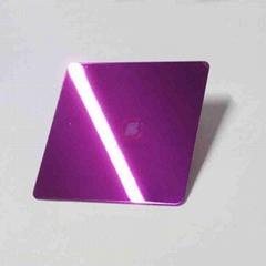 高比304镜面不锈钢紫红