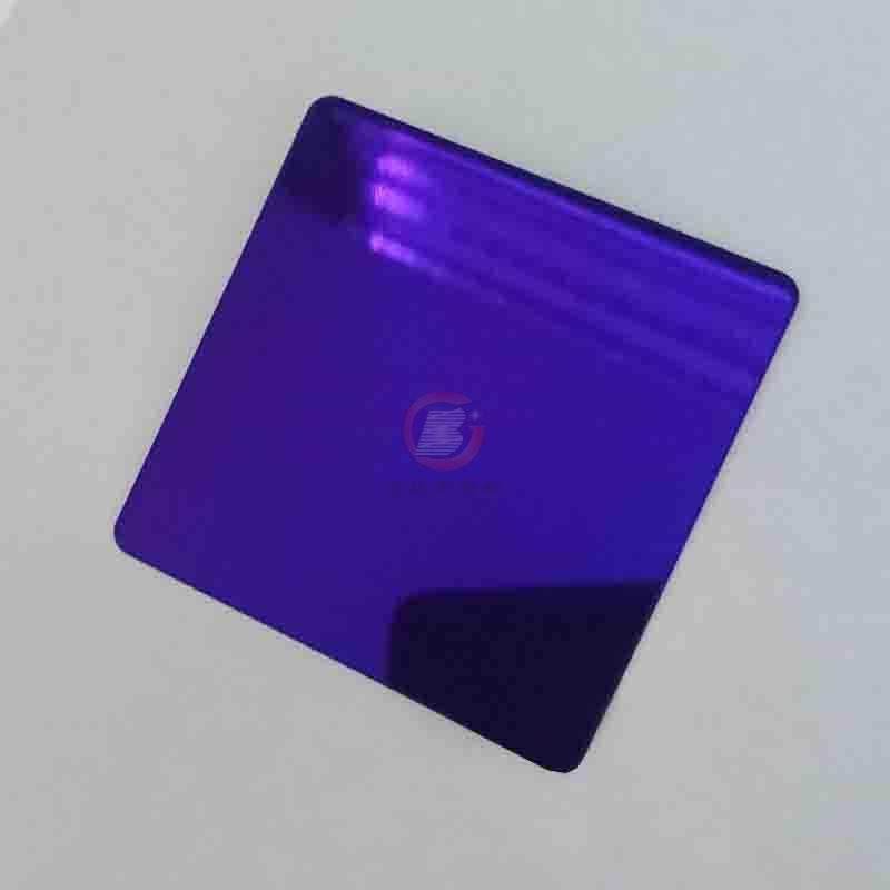 高比紫罗兰镜面不锈钢 家居彩色304不锈钢材料 1