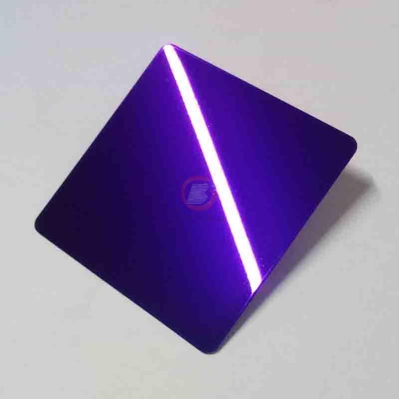 高比紫羅蘭鏡面不鏽鋼 家居彩色304不鏽鋼材料 2