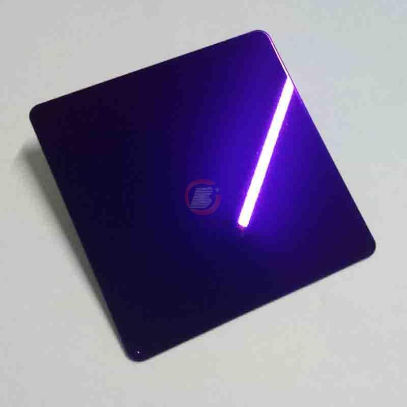 高比紫羅蘭鏡面不鏽鋼 家居彩色304不鏽鋼材料 3
