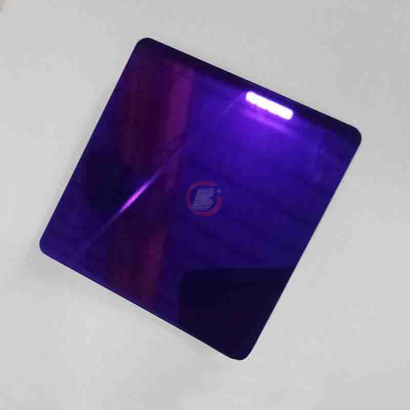 高比紫羅蘭鏡面不鏽鋼 家居彩色304不鏽鋼材料 4