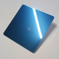 High ratio 316 stainless steel mirror blue