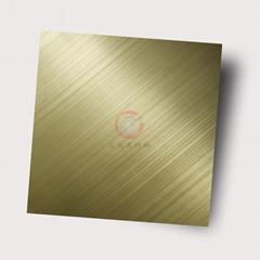高比304不锈钢板交叉拉丝 会所金属装璜材料