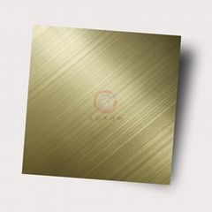 High ratio 304 stainless steel plate cross-wire drawing, club metal decoration