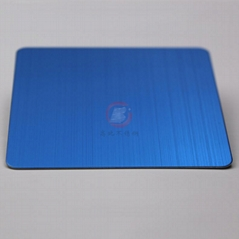High ratio 304 brushed stainless steel sapphire blue