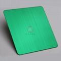 高比304不锈钢拉丝草绿色 环保不锈钢表面著色 2