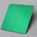 高比304不锈钢拉丝草绿色 环保不锈钢表面著色 4
