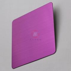 高比304不锈钢拉丝粉红色
