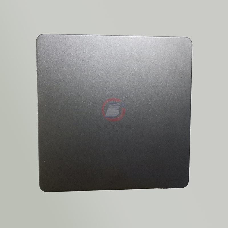 高比浅黑色喷砂不锈钢板 304不锈钢哑光抗指纹 1