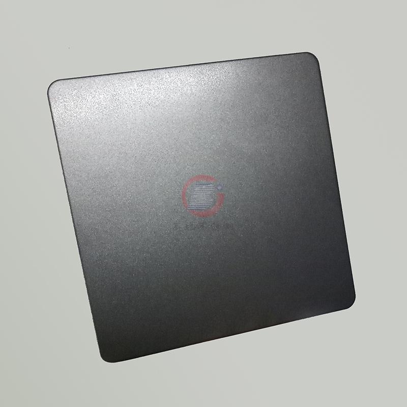 高比浅黑色喷砂不锈钢板 304不锈钢哑光抗指纹 2