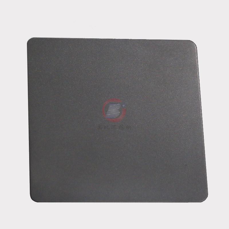 高比本色哑光喷砂不锈钢板 家具金属制品材料 2