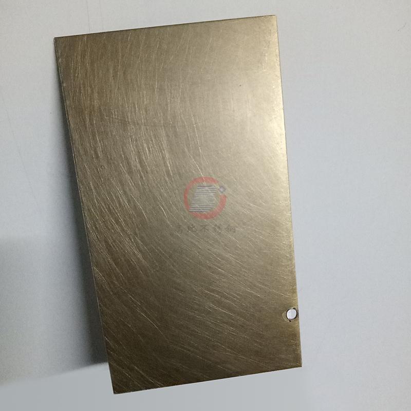 高比304青古铜手工乱纹哑光不锈钢板  1