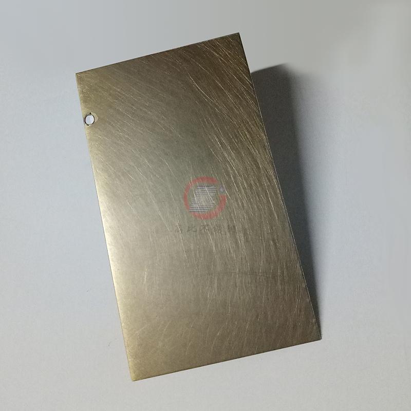 高比304青古銅手工亂紋啞光不鏽鋼板  2