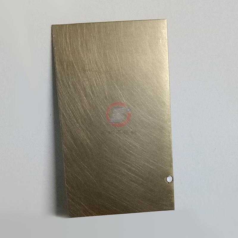 高比304青古銅手工亂紋啞光不鏽鋼板  5