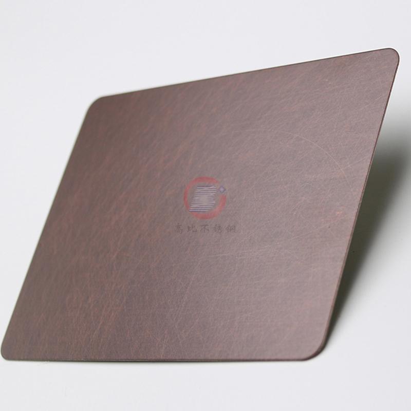 高比亂紋不鏽鋼水鍍紫銅色  會所不鏽鋼門板材料 1