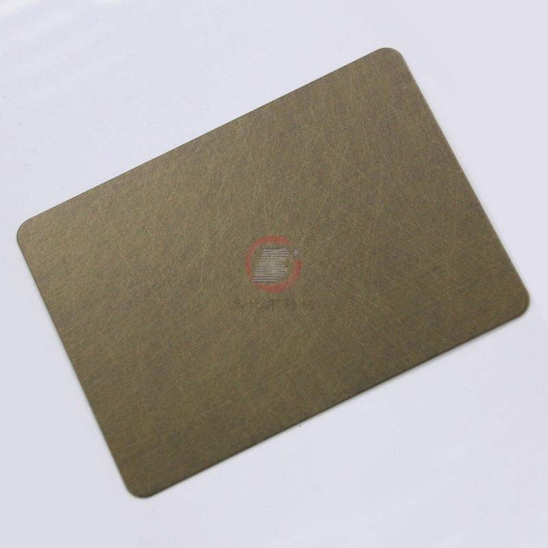 高比乱纹不锈钢镀古铜  304不锈钢镀铜板生产厂家 1