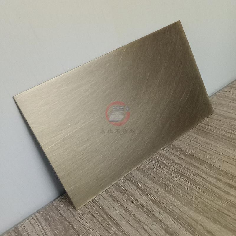 高比亂紋青古銅不鏽鋼圖片  家居不鏽鋼鍍銅門板 1
