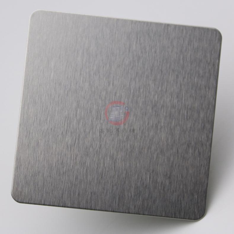 高比304不锈钢雪花砂本色板 家具装饰材料 1