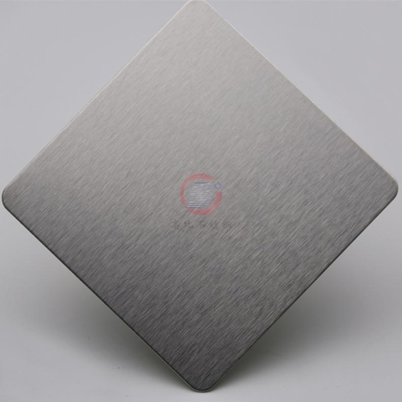 高比304不锈钢雪花砂本色板 家具装饰材料 4