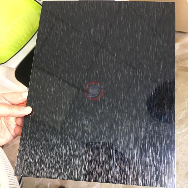 高比304黑色不锈钢雪花砂板  1