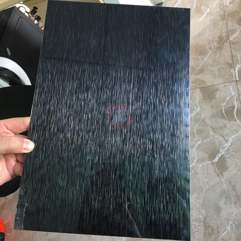 高比304黑色不鏽鋼雪花砂板  4