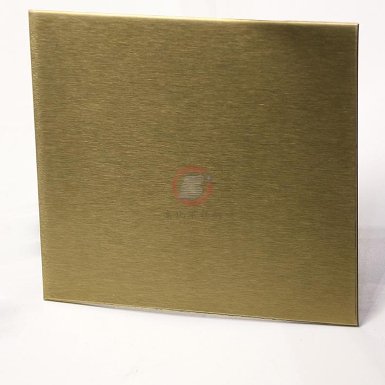 高比不鏽鋼雪花砂黃鈦金  電梯裝璜金屬制品材料 3
