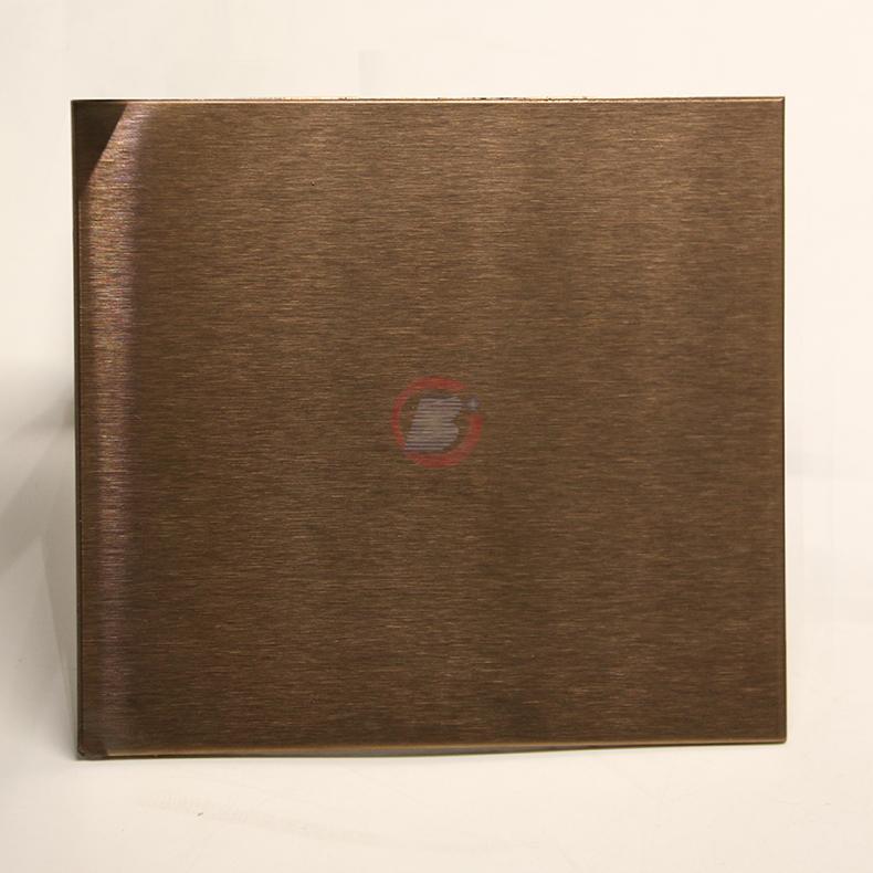 高比玫瑰金雪花砂不鏽鋼 優質304彩色不鏽鋼表面著色 1