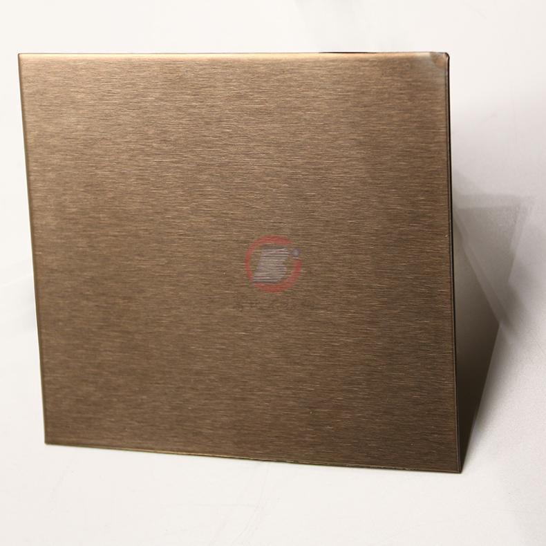 高比玫瑰金雪花砂不鏽鋼 優質304彩色不鏽鋼表面著色 2