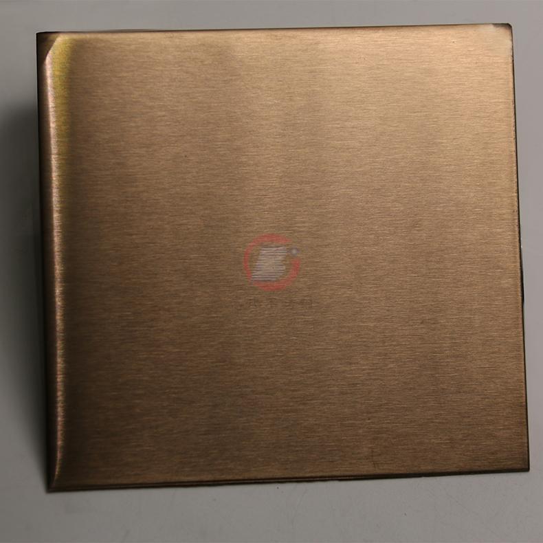 高比玫瑰金雪花砂不鏽鋼 優質304彩色不鏽鋼表面著色 3