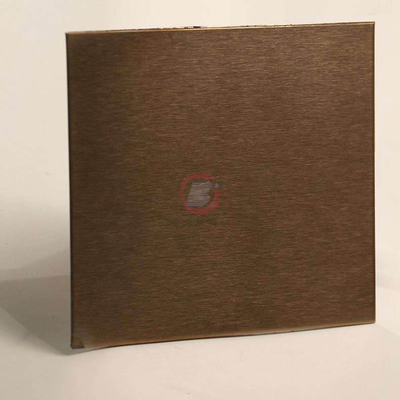 高比玫瑰金雪花砂不鏽鋼 優質304彩色不鏽鋼表面著色 4