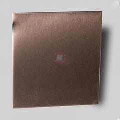 dark brown stainless steel snowflake sand, home decoration metal material