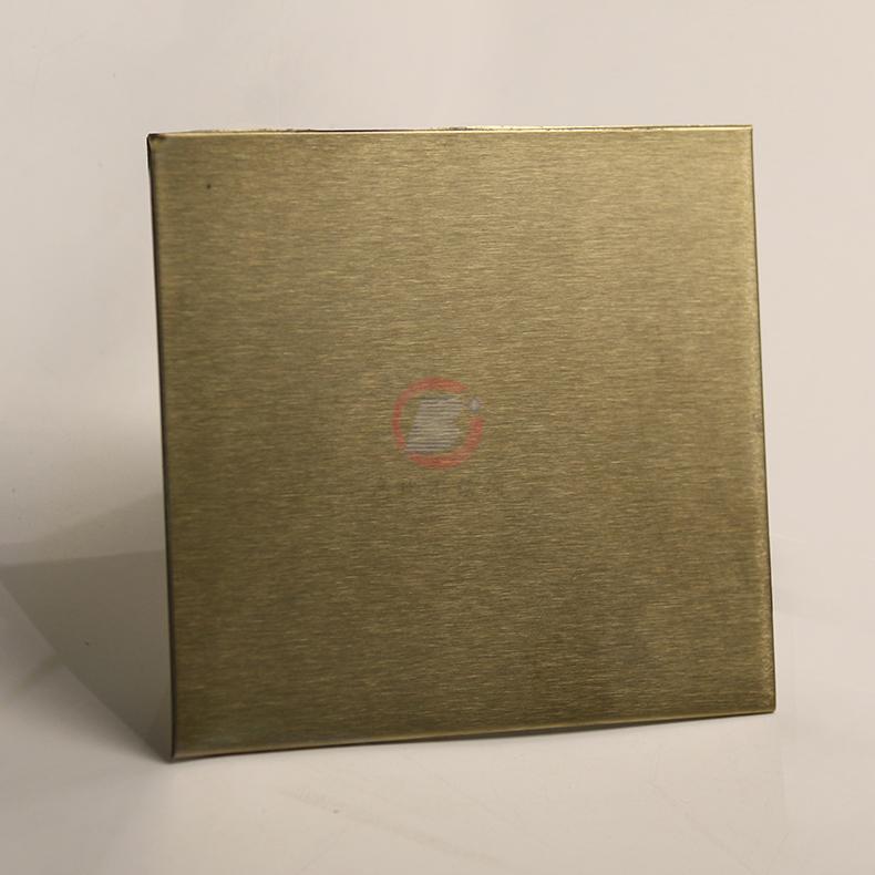 高比316不锈网雪花砂香槟金 家居装璜金属制品 4