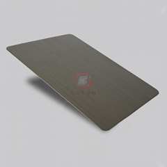 高比1801手工拉丝青古铜(镀黑)304不锈钢板