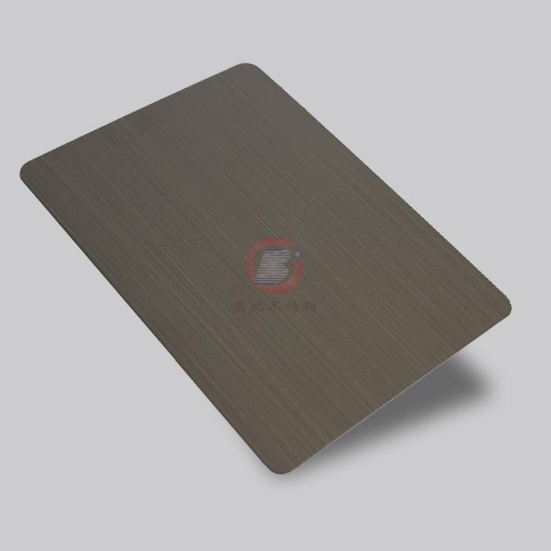 高比1801手工拉絲青古銅(鍍黑)304不鏽鋼板 2