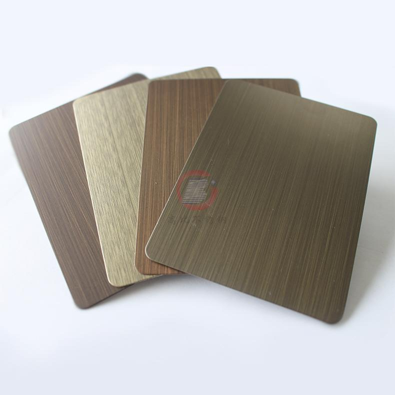 高比1801手工拉絲青古銅(鍍黑)304不鏽鋼板 4