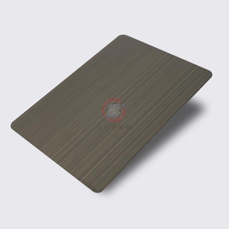高比1802 砂带拉丝发黑青古铜不锈钢板  1