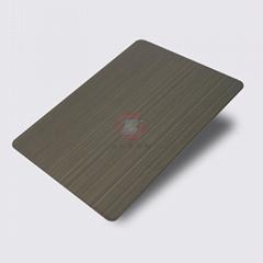 高比1802 砂带拉丝发黑青古铜不锈钢板