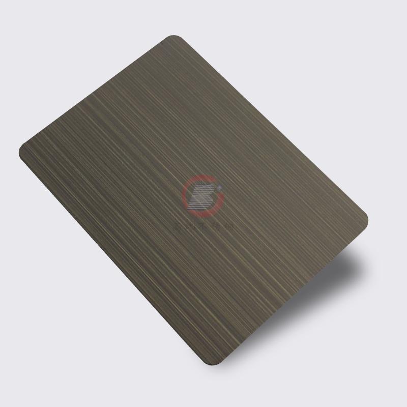高比1802 砂带拉丝发黑青古铜不锈钢板  2