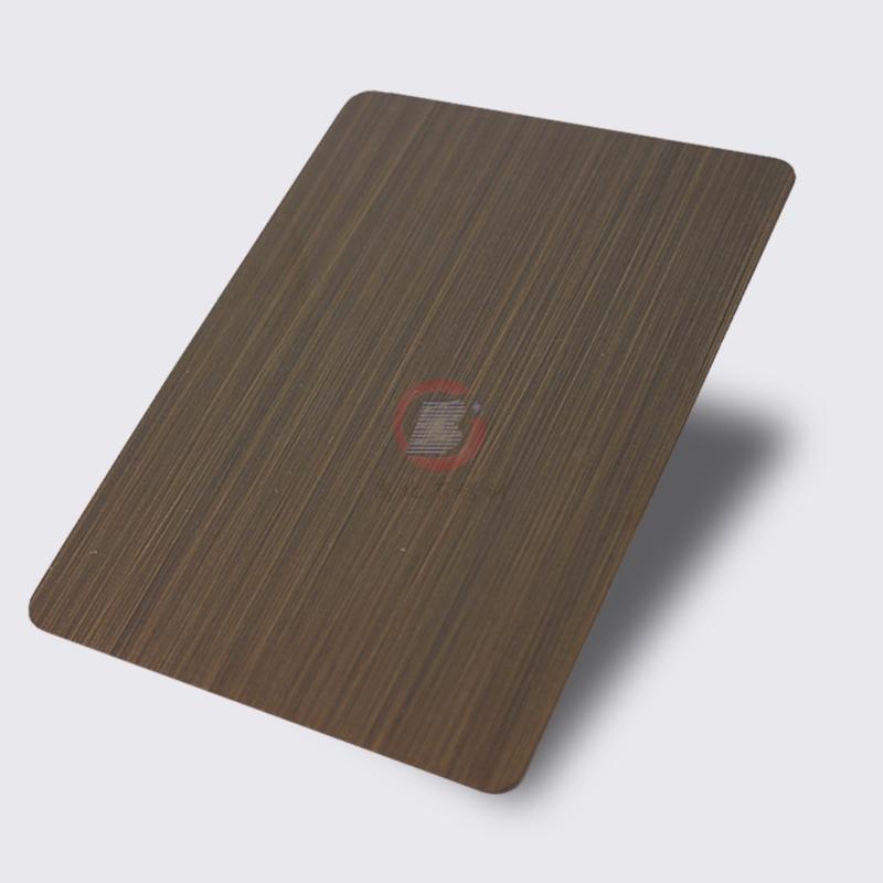 高比1803 手工拉丝纯色青古铜发黑不锈钢 1