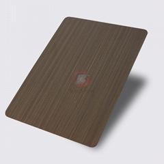 高比1803 手工拉絲純色青古銅發黑不鏽鋼