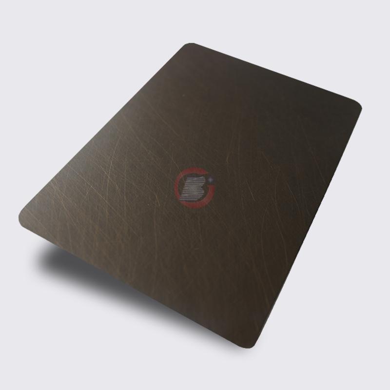 高比1806 手工乱纹不锈钢水镀发黑青古铜 1